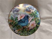 Indigo Bunting Vintage Collector Plate 1983 - Songbirds of the South