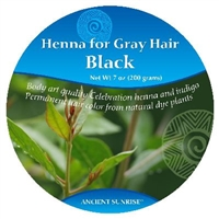Ancient Sunrise  Henna for Gray Hair Black Kit (Sample)