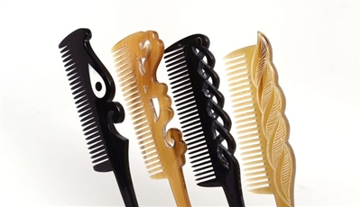 Spellstone Buffalo Horn Combs for Straight Hair