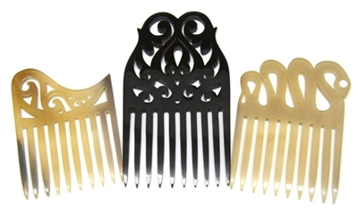 Spellstone Buffalo Horn Combs for Curly Hair