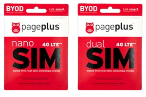 Page Plus 4G LTE SIM Cards
