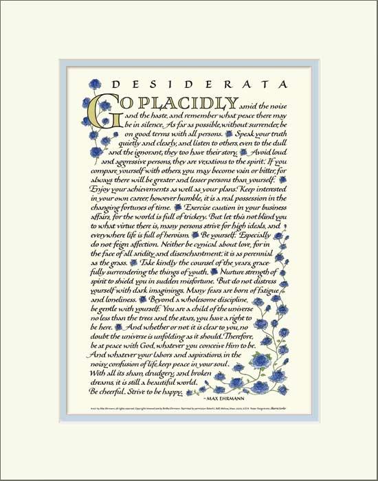 Desiderata Poem Max Ehrmann Desiderata Poster And