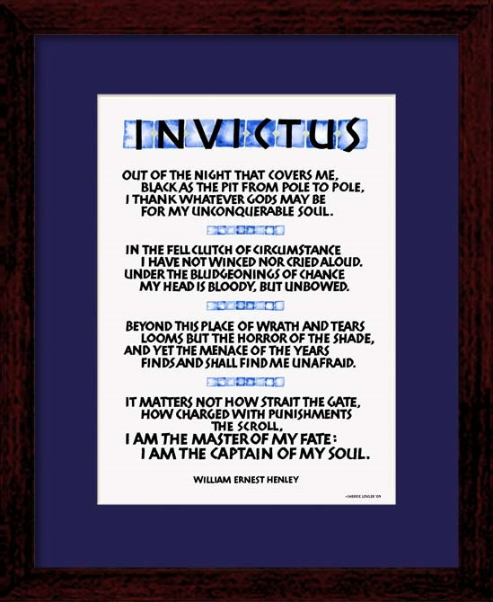 invictus poem essays 'invictus' by william ernest henley is an uplifting poem typically quoted in troubled times this video lesson will first look at this poem, then.