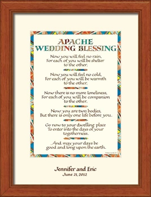 wedding blessing personalized