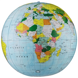 Inflatable Political Globe 16 Inch By Replogle