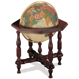 Statesman Globe Antique Oceans By Replogle
