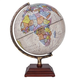 "Atlantic II Illuminated Globe by Waypoint Geographic | 12"" Desktop Globe"