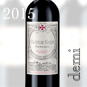 6690 CH.GAZIN POMEROL 2015 375ml x 24 [OWC24, Stock in France]