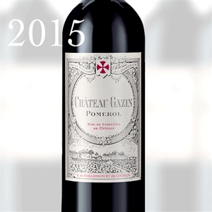 6689 CH.GAZIN POMEROL 2015 750ml x 12 [OWC12, Stock in France]