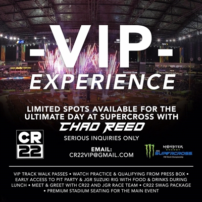 Chad Reed Supercross VIP Experience - Metlife Stadium East Rutherford, 4/27/2019