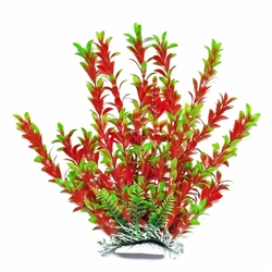 "AquaTop Plastic Freshwater Aquarium Plant Red Green 14"" tall"