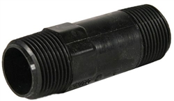 "Nylon Nipple 3/4"" MPT x 3/4"" MPT x 5"" length, black"
