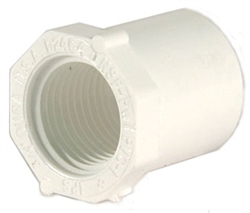 Schedule 40 PVC Reducer Bushing 2 inch Spg x 1-1/4 inch FTP