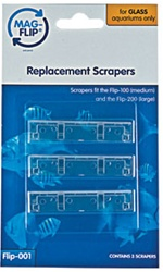 Mag Flip 100 Medium & Mag Flip 200 Large Replacement Scrapers for Glass