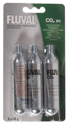 Hagen Fluval Pressurized Disposable Cartridges, CO2 20, 3-Pack