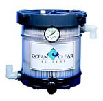 Ocean Clear Model 340 Canister Filter with Pleated 25 Micron Filter & Bio Core Filter