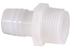 "Ocean Clear Replacement Nylon Straight Adapter 3/4"" MPT x 1"" Hose Barb (Part # 82373)"