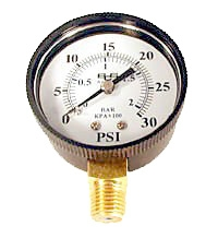 Replacement Pressure Gauge for Pentair Aquatics (Rainbow Lifegard) Mechanical Filters