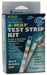 Pentair Aquatics Lifegard 6 Way Test Strips