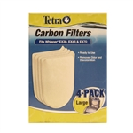 Tetra Whisper EX20, EX45 & EX70 Carbon Filter Large Replacement, 4- Pack