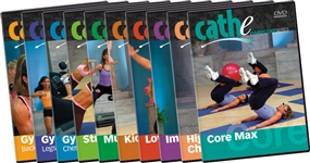 cathe All 10 Hardcore workout DVDs
