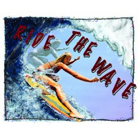 Approximately 11x15 Aluminum sign that says Ride The Wave. This quality and sturdy metal poster sign is brand new, durable and made of heavy gauge aluminum that will last for many years to come. Great for hanging outside as well as inside. A great...