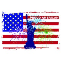12x18 Aluminum sign that says Proud American. This quality and sturdy metal poster sign is brand new, durable and made of heavy gauge aluminum that will last for many years to come. Great for hanging outside as well as inside. A great way to add some...