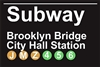 12x18 Aluminum sign that says Subway Brooklyn Bridge City Hall Staion. This quality and sturdy metal poster sign is brand new, durable and made of heavy gauge aluminum that will last for many years to come. Great for hanging outside as well as...