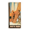 North Shore Surfers Vintage Wood Sign