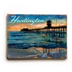Huntington Beach Pier Vintage Wood Sign