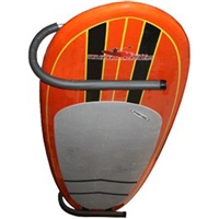 This SUP Ceiling rack makes it easy to store just about any sized board.  Utilizing a 180 degree bend the ceiling Rack securely stores and displays your Stand Up Paddle Board to the ceiling without complicated straps or cables. The rack...