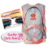 "Send your little grom off right with ""The Take Off"" Surfer Baby Gift Pack in pink. Included is a pink kids backpack, a Surfer Girls Rule sticker, and a  children's surf book! Choose from these hardcover surf children's books: ..."