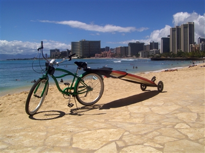 The Mule Stand Up Paddleboard Trailer / Carrier 			Makes getting to the beach a breeze!