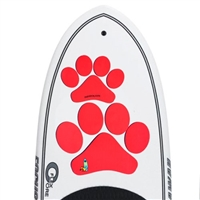 The The Pup Deck - Deck Pad for Dogs - Paw Prints (Coral)