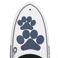 The Pup Deck - Deck Pad for Dogs - Paw Prints (Slate)