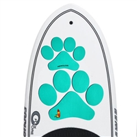 The The Pup Deck - Deck Pad for Dogs - Paw Prints (Teal)