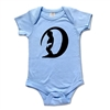 This soft 100% baby rib combed cotton onesie is silkscreened with a cool graphic of a baby that got barrelled. Our one pieces feature a lap tee neckline construction for easy on and off, as well as a 3 snap seat closure. It comes in blue and gray....