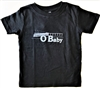 Ocean Beach OB baby and kids black O Baby t shirt Back
