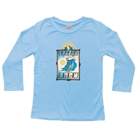 This soft 100% combed cotton infant long sleeve shirt is silk screened with the cool Surfer Baby design on the front of the shirt and a horizontal surfer  board logo on the upper back. Color: Blue. Available sizes are 6 mos, 12 mos, and 18 mos....