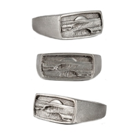 Dawn Patrol Mens Pewter Surf Ring by Strickly Boarding