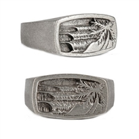 Holiday Mens Pewter Surf Ring by Strickly Boarding