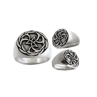 "Keep balance in your surfing and in your life with this celtic inspired wave knot. To health, wealth, and happiness. Sláinte!  Approx size: .75"" tall x .75"" wide.  100% Handcarved .925 Sterling Silver Made in..."