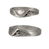 This wave ring is hand carved, made from Lead Free Pewter with beautiful natural undercuts to resemble a perfect deep barrel.   100% Handcarved Lead/Nickel Free Pewter Made in Carlsbad, California...