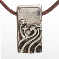 The North Shore Pendant Original Design. Exquisite beach jewelry Hand carved by ZulaSurfing in our New Jersey studio. The pendant is hollow in the back but still a thick piece. Proudly Made in the USA...