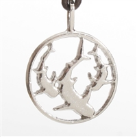 Beautiful Contemporary Sharks Pendant in pewter with rhodium. Breathe life into your collection with this lovely Design.Proudly Made In The U.S.A.All jewelry comes in an elegant gift box....