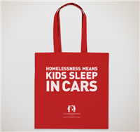 """Homelessness Means: </br>Kids Sleep In Cars"" </br>Tote"