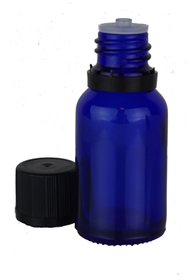 15ML-GLASSBOTTLE, Cobalt Blue Glass Bottle