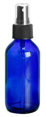 4-OZ-MISTER, Cobalt Blue Glass Bottle