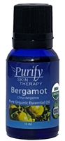 100% Pure Premium Grade, USDA Certified Organic Bergamot Essential Oil by Purify Skin Therapy