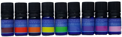 complete set of chakra essential oil blends by purify skin therapy, powerful chakra essential oil blends, 100% pure, certified organic & wildcrafted essential oils, root chakra, sacral chakra, solar plexus, heart chakra, throat chakra, third eye, crown